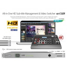ez-CGER LIVE CG Software + HD Switcher + Console Package