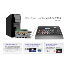ez-CGER PCI LIVE CG Software + Switcher PCI express+ Console Package